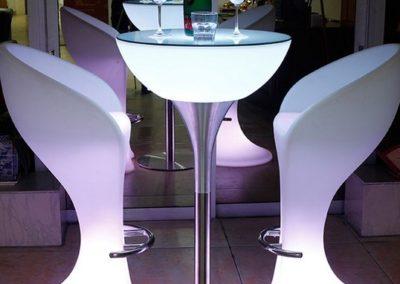 Cafe møbler LED lys