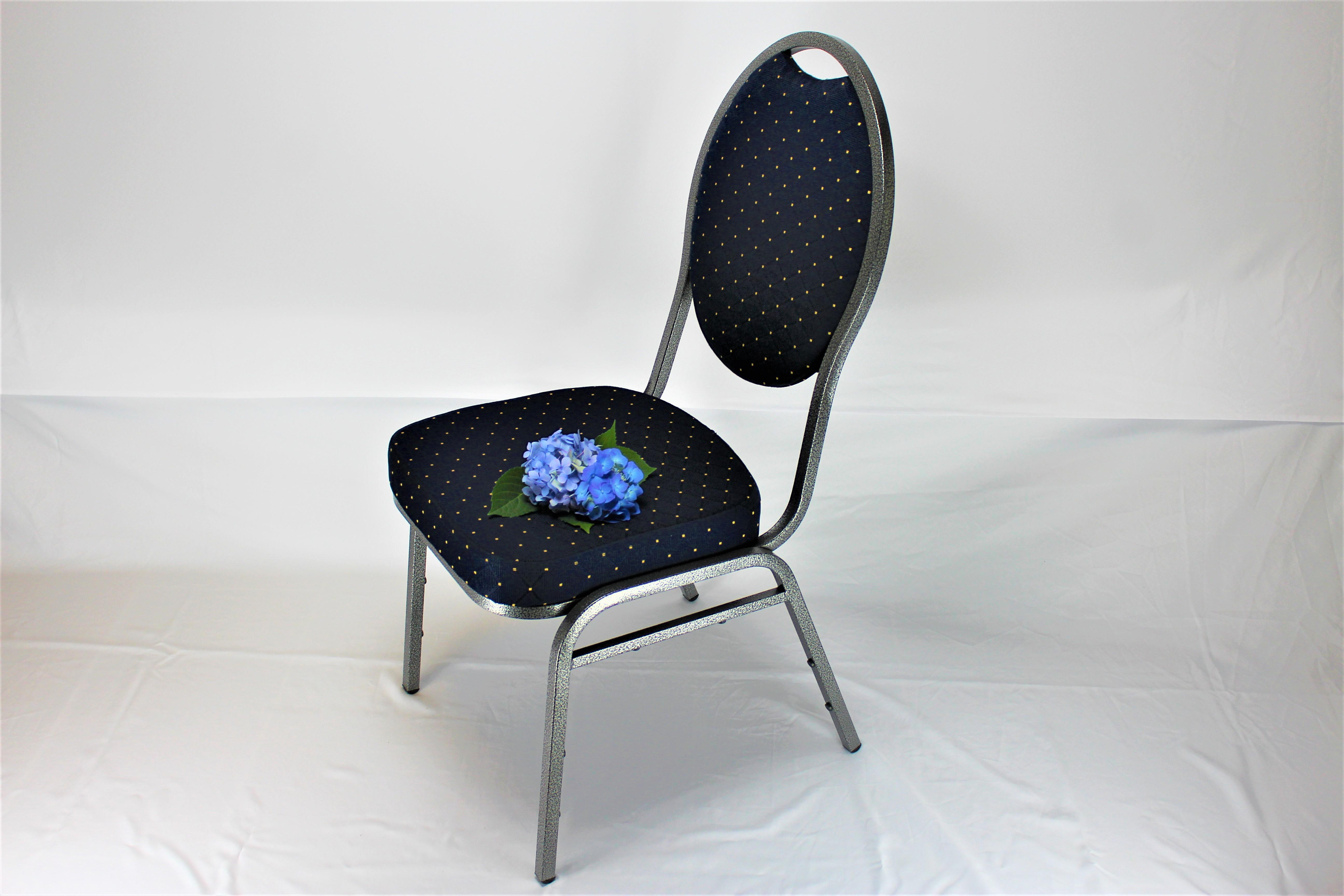 Banquet Steel stol grå/blå